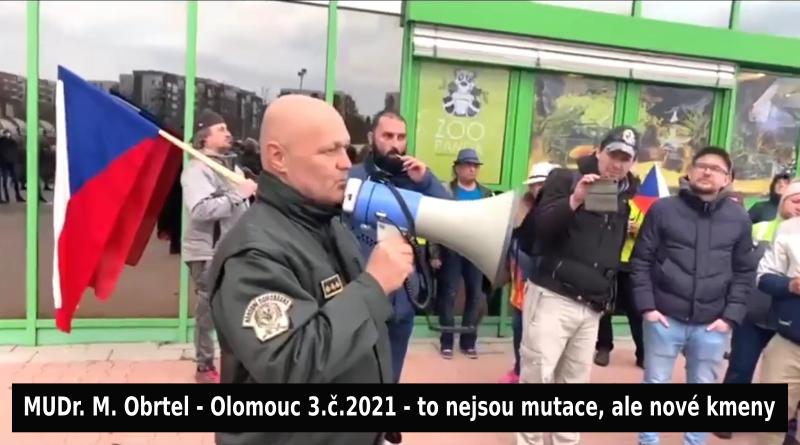 Volný a MUDR. Obrtel v Olomouci 3.4.2021